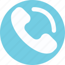 call, helpline, phone receiver, phone service, receiver, telecommunication icon