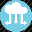 cloud arrows, cloud download, cloud upload, data transmission icon