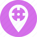 cog, focus with map, location pointer, map focusing, map marker, map setting icon