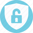 guard, lock with shield, padlock, protection shield, security, shield icon