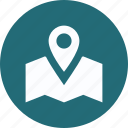 gps, location marker, location pin icon