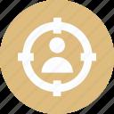 focus, focus button, target icon