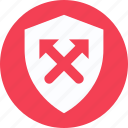 antivirus, protection symbol, security, security concept, shield, shield with arrows icon