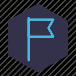 badge, cut-off, event, flag, gps, location, milestone icon