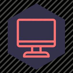 computer, device, laptop, monitor, pc, screen, web icon