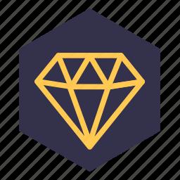 adamant, brilliant, diamond, meaning, money, value, worth icon