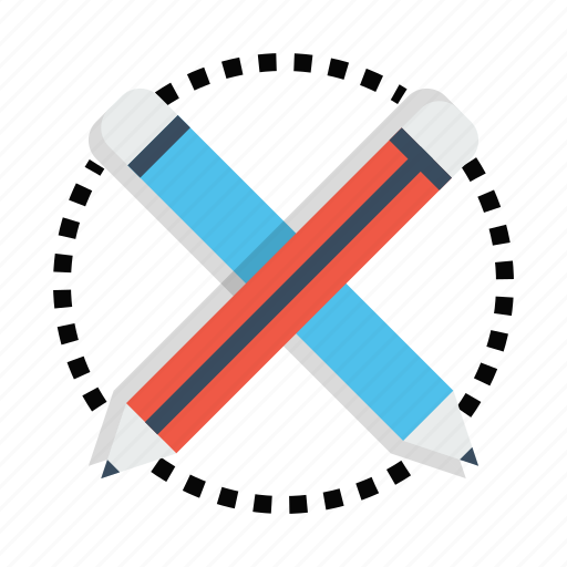 design, drawing, material, pen, pencil, stationary icon