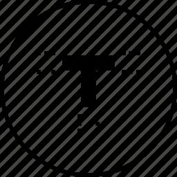 edit, margin, object, shape, text, tool, write icon