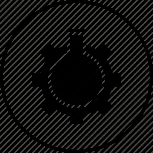 data, glass, optimization, preferences, seo, settings, tube icon
