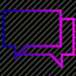 bubble, chat, comment, conversation, message, messaging, talk icon