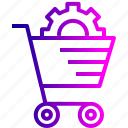 cart, ecommerce, online, services, settings, shopping, solution
