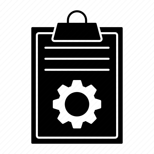 clipboard, document, page, setting icon