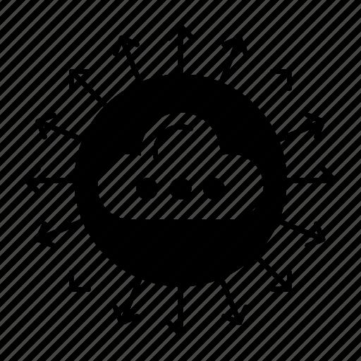 cloud, computing, database, server icon