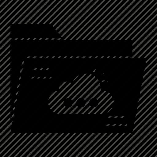 archive, cloud, files, folder icon