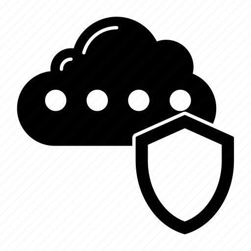 cloud, protection, security, shield icon