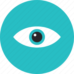 eye, eyesight, looking, open, review, search, surveillance, vision icon