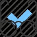 glass, glasses, read, view, очки, просмотр, чтение icon