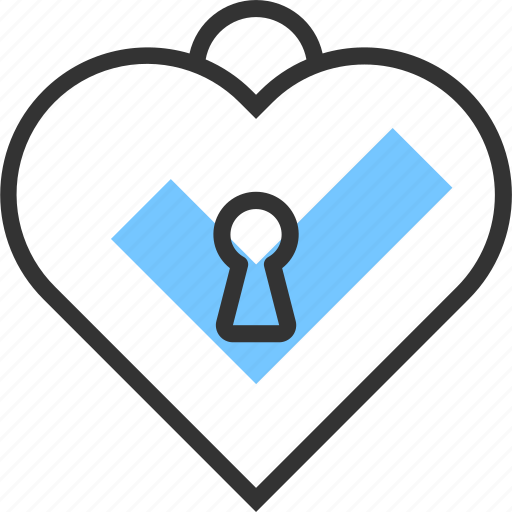 heart, lock, love, password, romantic, safe, secure icon