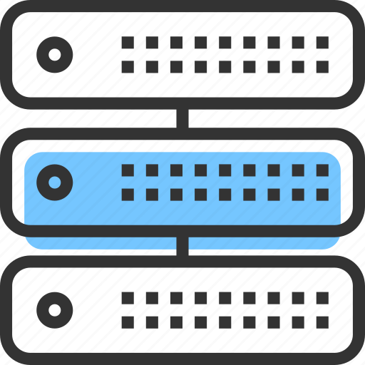 connection, data, database, hosting, network, server, storage icon