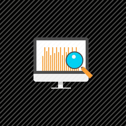 analysis, analytics, data, information, research icon
