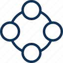circle, connection, webui icon
