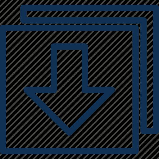 arrow, down, download, webui icon