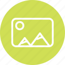 image, landscape, photo, photo file, photography icon