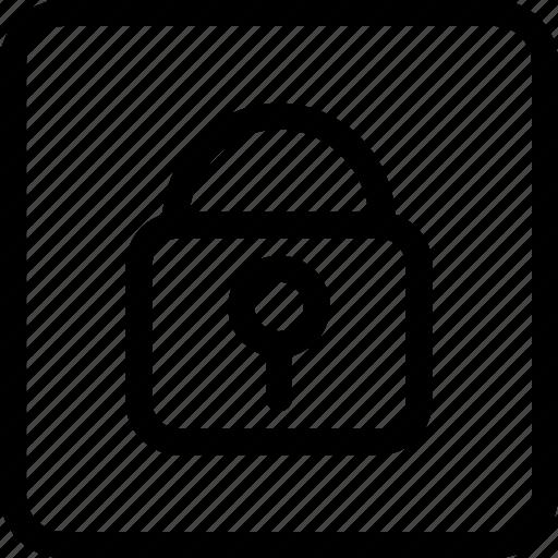 Locked Door Padlock Padlock Locked Secure Security Icon