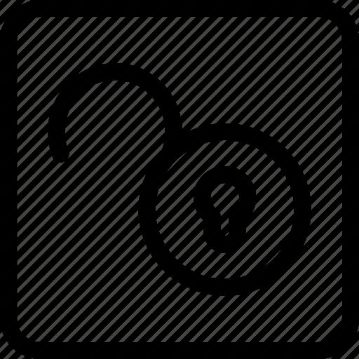 open, padlock, padlock unlocked, unlock, unlocked icon