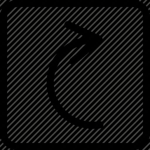 arrow right, redo, right, right direction icon