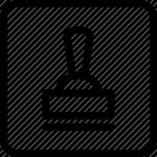 company stamp, signature, stamp icon