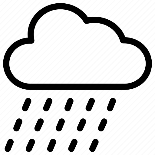 cloud, forecast, rain, weather icon icon