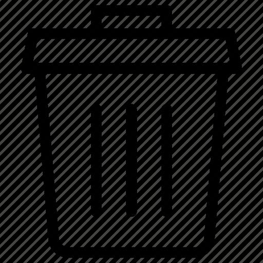 bin, delete, recycle, remove, trash icon icon