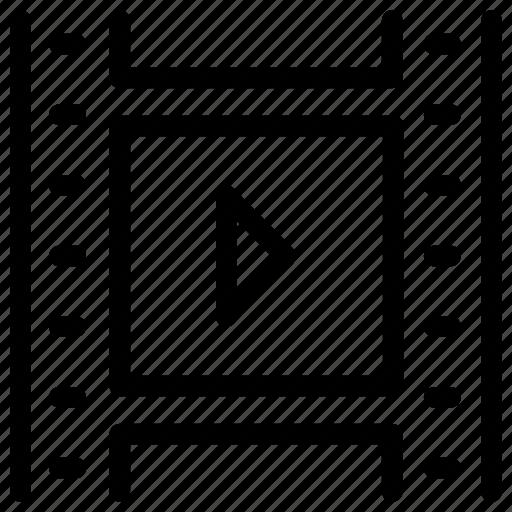clip, film, movie, play, reel, video icon icon