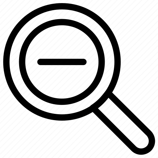 glass, magnifying, out, zoom icon icon