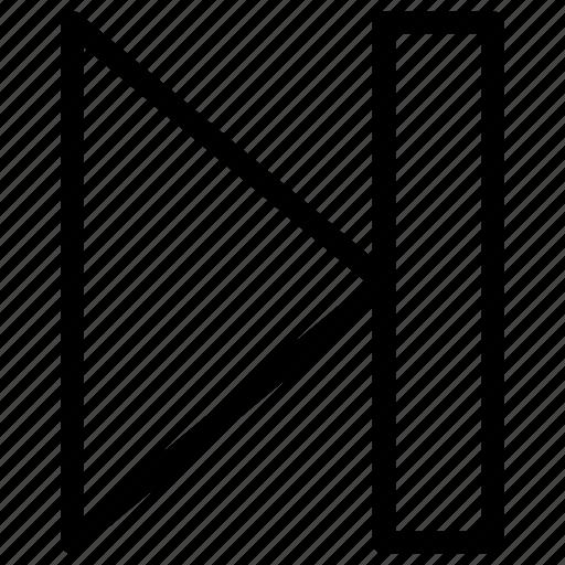 arrow, forward, next, right icon icon