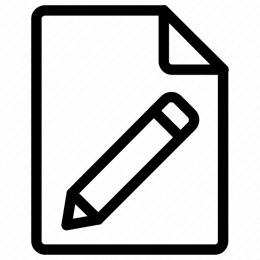 document, edit, file, pencil icon icon