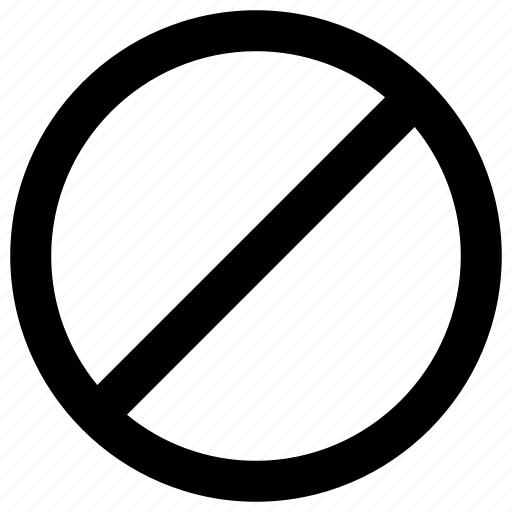 ban, block, blocked, private icon icon