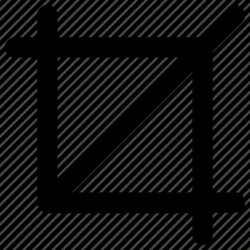 crop, design, tool icon icon