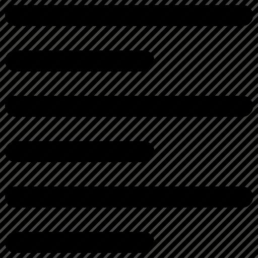 align, format, left, text icon icon