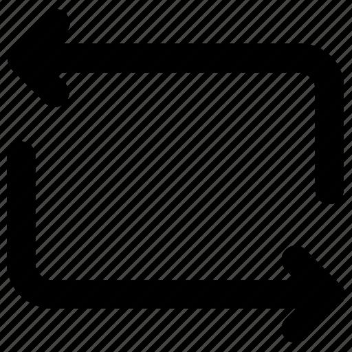 all, repeat, rewind icon icon