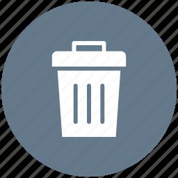 bin, delete, garbage, recycle, remove, trash icon icon