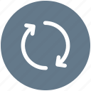 arrow, refresh, reload, rotate icon icon