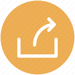arrow, export, file, share, sharing, social icon icon