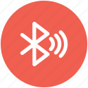 bluetooth, connect, sync, wave icon icon