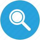 blue, browse, circle, discover, explore, search, view icon icon