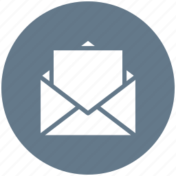 email, email message, email sign, open email icon icon
