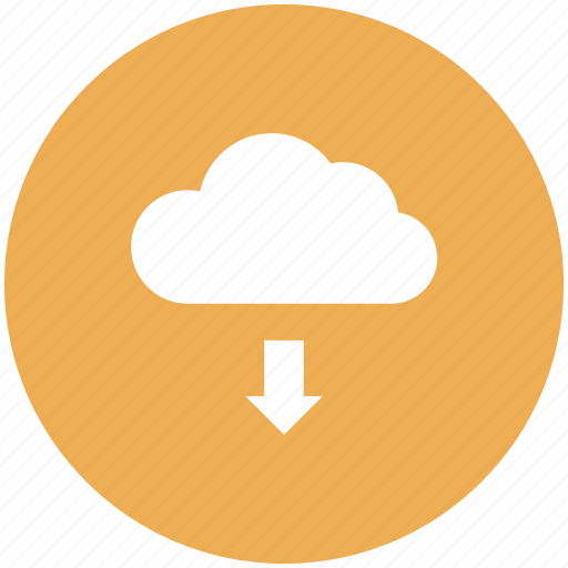 cloud, data, download icon, storage icon