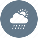 atmosphere, colud, rain, sun, weather icon icon