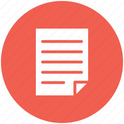 circle, document, file, form, note, report icon icon